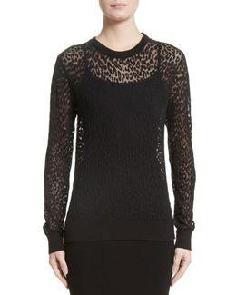 Burnout Leopard Sweater
