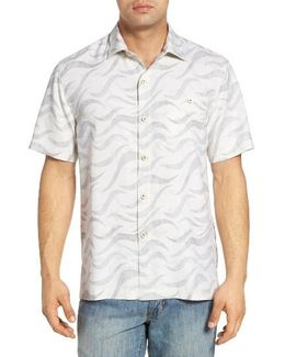Retsina Waves Silk Blend Camp Shirt