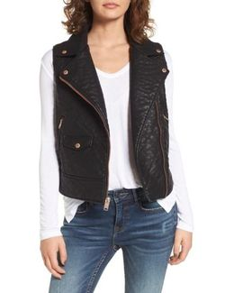 Billie Faux Leather Vest