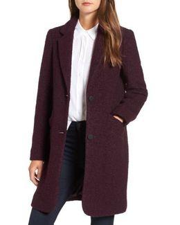 Paige Wool Blend Boucle Coat