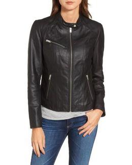 Felicity Leather Moto Jacket