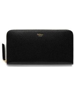 Zip Around Leather Wallet