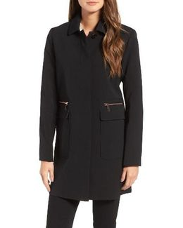 Zip Pocket A-line Coat
