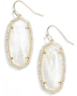 Elle Pave Drop Earrings
