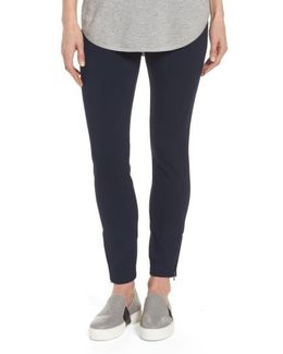 Zip Ankle Ponte Leggings