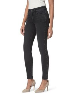 Ami Embellished Stretch Skinny Jeans