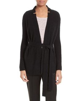 Wool Blend Belted Cardigan