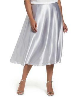 Full Charmeuse Tea-length Skirt