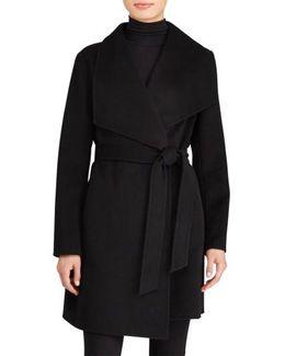 Double Face Wool Blend Wrap Coat