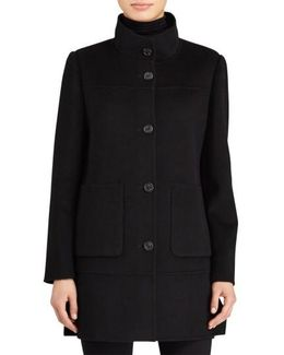 Double Face Wool Blend Coat