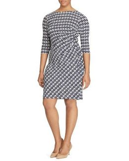 Geo Print Sheath Dress