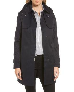A-line Swing Raincoat With Detachable Hood & Liner
