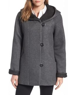 Hooded Double Face Knit Coat