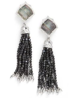 Misha Tassel Clip Earrings