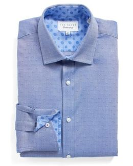 Jamer Trim Fit Dot Dress Shirt