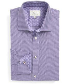Chimy Trim Fit Geometric Dress Shirt