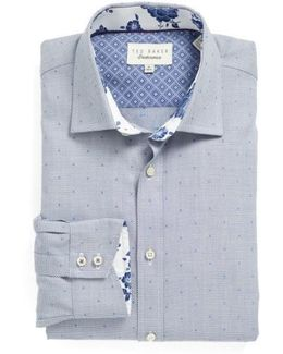 Trim Fit Dot Dress Shirt