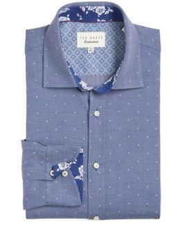 Trim Fit Dot Dress Shirt