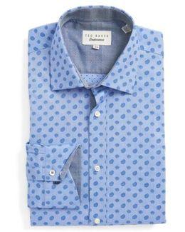 Midra Trim Fit Paisley Dress Shirt