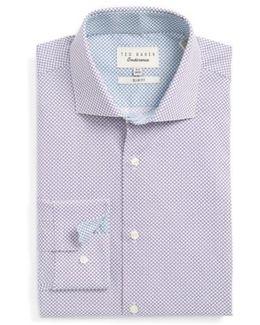 Locket Slim Fit Geometric Dress Shirt