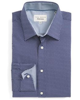 Agra Trim Fit Geometric Dress Shirt