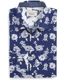 Trim Fit Floral Dress Shirt