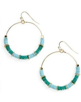 Sequin Hoop Earrings