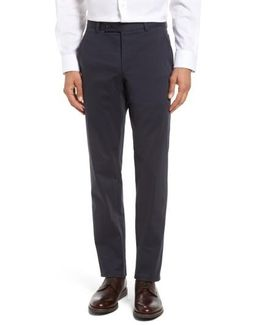 Jerome Flat Front Stretch Cotton Trousers