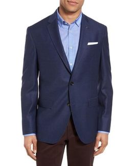 Konan Trim Fit Wool Blazer