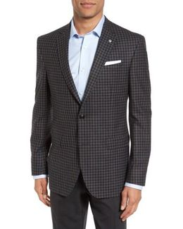 Jay Trim Fit Check Wool Sport Coat