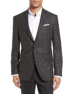 Jay Trim Fit Plaid Wool Sport Coat