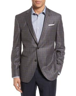 Tom Trim Fit Plaid Wool Sport Coat