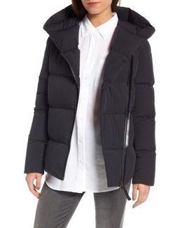 Asymmetrcial Zip Down Coat