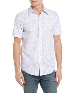 Polka Dot Modern Fit Short Sleeve Shirt