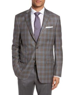 Classic Fit Plaid Wool Sport Coat
