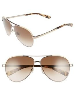 Amarissa 59mm Polarized Aviator Sunglasses