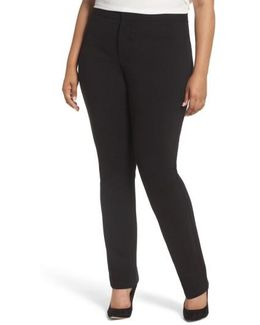 Stretch Knit Straight Leg Trousers