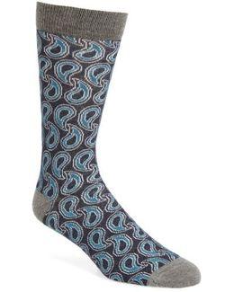 Paisley Crew Socks