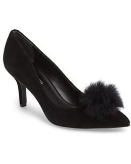 Sadie Genuine Rabbit Fur Pom Pump
