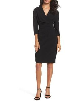 Crepe Sheath Dress
