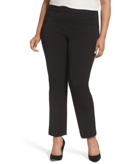 Stretch Twill Seamed Pants