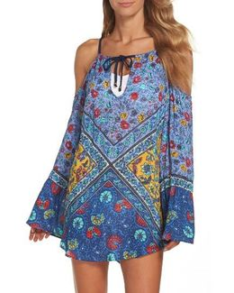 Woodstock Cold Shoulder Cover-up Tunic