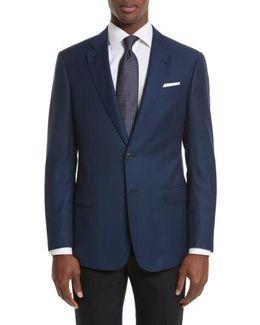 Trim Fit Check Wool Sport Coat