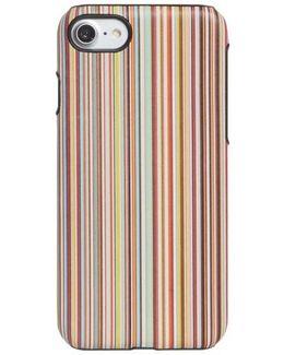 Multistripe Leather Iphone 7 Case