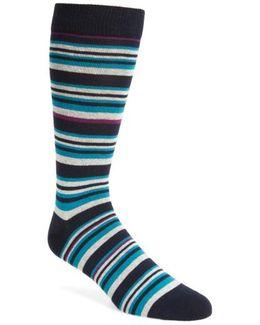 Thin Stripe Crew Socks