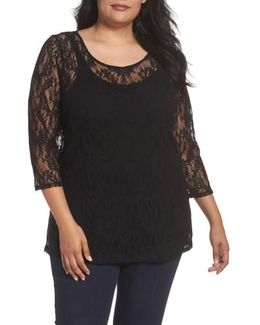 Lace Illusion Top