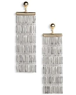 Two-tone Linear Fringe Earrings