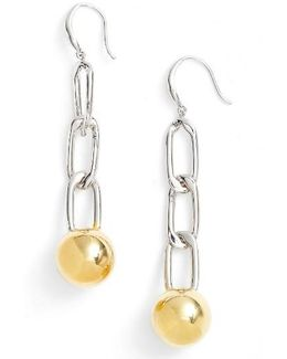 Chain Ball Drop Earrings
