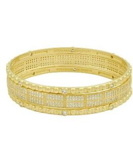 Amazonian Allure Set Of 3 Pave Bangles