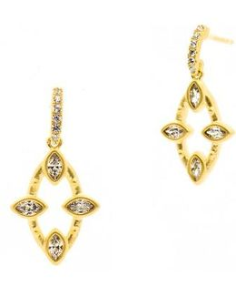 Amazonian Allure Marquise Drop Earrings